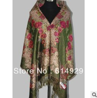 2013 Hot Fashion Colorful roses warm shawl scarf Women pashmina  scarf