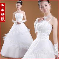 2014 princess bride yarn white spaghetti strap wedding qi hs224