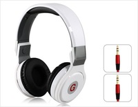 GENIPU GNP-8804 3.5 mm On-ear Foldable Super Bass Headphones with Microphone for MP3 Player, Cell Phone, PC (White)