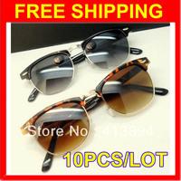 High Quality 2013 Fashion Sun Glasses Retro Inspired Elegant Metal Star Sunglasses 3016