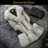 Fox fur vest medium-long female fur coat fur coat 2013