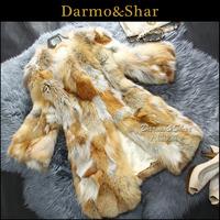 Fur 2013 fox fur coat overcoat medium-long fur
