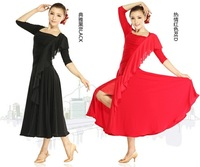 Luxury Lady Half-Sleeve Ballroom Competition Dress High quality Women Tango/Waltz Party Costume Mix Color&Size