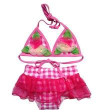 2014 neue großhandel kinder blumen design bikini bademode badeanzug