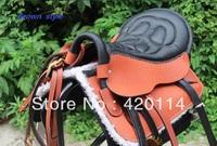 Saddle 8-piece  set brown and black saddleries