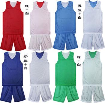 Reversible basketball clothes man basketball clothing basketball training service jersey sports set