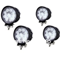 4pcs x 27w Led Work SPOT ROUND Light Off road 12v/24v Truck 4x4 Boat SUV lamp