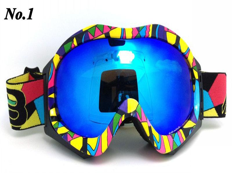 Free Shipping Unisex Snowboard Ski Goggle Double Lens AntiFog UV400 Protection CE Snow goggles fasion color fram(China (Mainland))