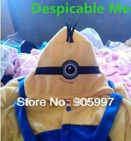 2013 Fashion Cartoon Yellow Minion 2 Piece Pajamas Suit For adult Clothing Sets Despicable Me Movies Free Shipping