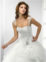 2015 NEW Princess Wedding dress White Sexy Off shoulder flower bride wedding sweet princess Wedding Gown