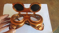 New arrival steam punk glasses steampunk goggles copper