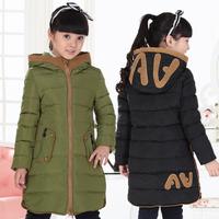 Child down coat medium-long female child children's clothing down coat 2013 female big boy down coat thickening