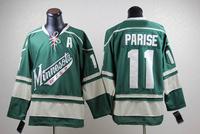 Cheap Minnesota Wild jersey, Wholesale Hockey Wild 11# Zach Parise Red /Green jerseys, free shipping, >=5pcs shipped by EMS