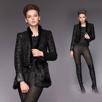 2013 winter rabbit fur overcoat outerwear plus size plus size plus size clothing outerwear