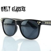 eyeglass frame retro punk sunglasses rivet men and women fashion oculo de sol of9151