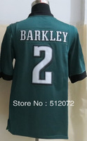 #2 Matt Barkley Men's Game Team Green Football Jersey