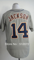 #14 Austin Jackson Men's Authentic Road Grey Cool Base Baseball Jersey