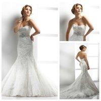 Best Selling Mermaid Style Sweetheart 2014 Beautiful Lace Wedding Dresses Online mermaid Wedding Gown