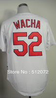 #52 Michael Wacha Men's Authentic Home White Cool Base Baseball Jersey