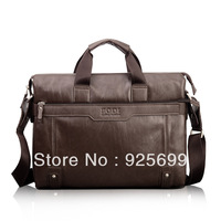 Classical Men's Briefcases Business/Casual PU Leather Big Capacity Long Bags Crossbody Strap Laptop Bag Handbag Totes