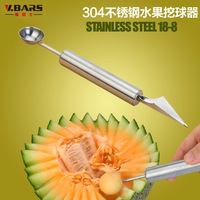 stainless steel cut fruit device watermelon spoon fruit baller,Fruit carving device