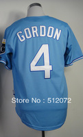 #4 Alex Gordon Men's Authentic Alternate Home Baby Blue Cool Base Baseball Jersey
