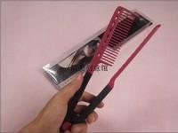 Wholesale 300pcs/lot HIGH QUALITY brazilian keratin treatment hair straightening V comb easy styling tool,FREE SHIPPING