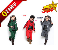 2013 child autumn and winter piece sports set child tidal current  children outerwear kids down & parkas