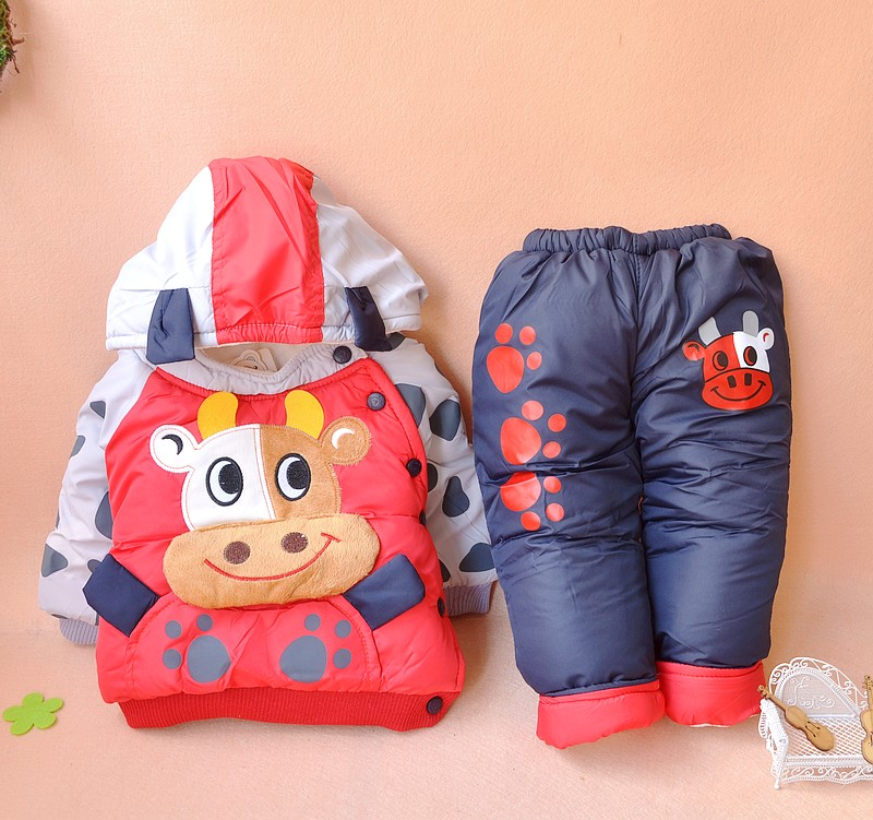 Baby clothing outerwear newborn clothes 0-1 year old autumn and winter snowsuit(China (Mainland))