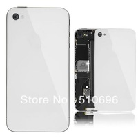 Free shipping 10pcs/Lots Replacement Back Cover Glass Plate Housing For iPhone 4S White