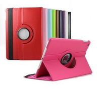 New  Luxury PU Leather Protective 360 Degree Rotating Tablet Smart Cover Case for iPad Air 5 (2013 New )Stand