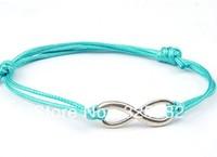 Free Shipping Fashion Wholesale 50 pcs/Lot Cuff Cotton Hemp Adjustable Handmade Braided Bracelet Retro Silver TWISTED Gift