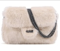 Free shipping 2013 new style hot sale luxurious rabbit fur Handbag fashion chain winter women bag WLHB689