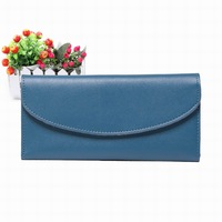 Free shipping 2013 long design genuine leather wallet female bank card holder ultra-thin clutch
