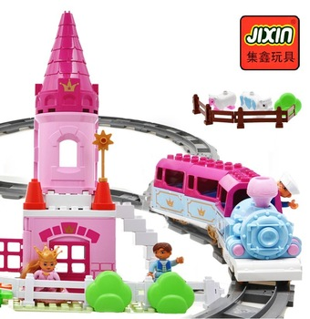 Child electric thomas train track set female child baby birthday gift 1 - 3 years old brinquedos girl toys railroad railway toy