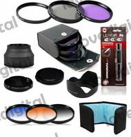 67mm cpl uv fld cap Set   + Rubber Lens Hood  + graduated color filter kit  for Nikon P500 P510 Coolpix, NEW