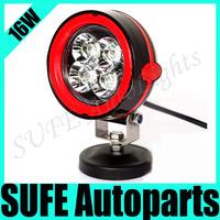 Free shipping 2pcs 4'' 16W CREE LED Working Light Lamp Off-Road 4WD 12v 24v Truck SUV ATV Spot Flood Light LED Fog Light