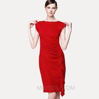 Miusol 2013 fashion brief ol slim waist slim tassel plus size short-sleeve women's one-piece dress
