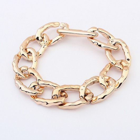 New Fashion Sample Rose gold plastic bracelets for woman or man Personality CCB jewelry(China (Mainland))