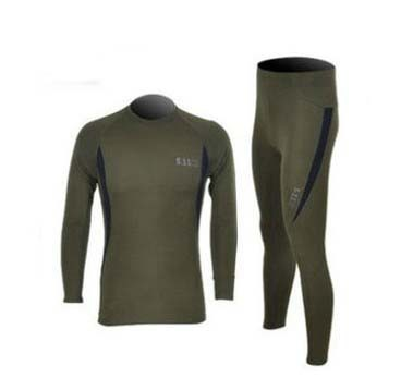 511 suit thermal underwear perspiration quick-drying underwear sports bra underwear sets men's fleece(China (Mainland))