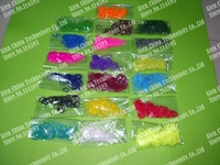 19 Colors 600Pcs/Bag Rainbow Color Rubber Bands  Loom Band DIY RUBBER BANDS 25 S Clip +1 Hook