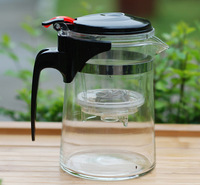 New Arrival Fashion Glass Tea Cup 500ml Straight Glass Teapot Integrative and Convenient Design Office Tea Set Without Cup