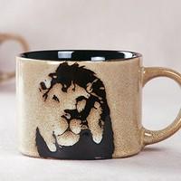 New arrival cupfan wild leopard print mug bone china cup lion leopard cup