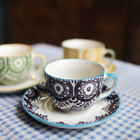 Ceramic lovers coffee cup set birthday gift - zakka