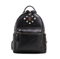 M limited edition rivet embossed with diamond black white lovers backpack student school bag