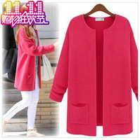 Free shipping 2013 autumn spring and autumn medium-long sweater autumn outerwear cardigan Fashion Sell like hot cakes sweater