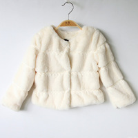 New 2014 2013 children's clothing child fur coat female child autumn and winter overcoat double 11