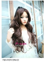 Real stars 2014 new fashion women carved long curly hair wigs caps Non mainstream wig girls false hair simulation of human hair