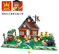 Wange Happy Farm 34201N Building Block Sets 719pcs Educational Jigsaw DIY Construction Bricks Toys For Children, Christmas Gift
