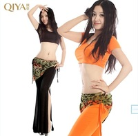 Quality belly dance set quality plus size autumn and winter leotard belly dance practice service set